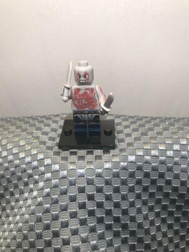 New Custom LEGO Minifigure Superhero Drax The Destroyer Guardians Of The Galaxy