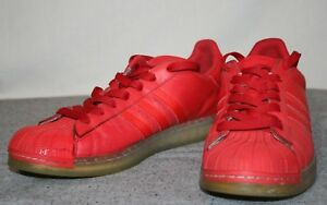 6217ca37c1 Image is loading Adidas-Stan-Smith-Red-Leather-Gum-Sole-Men-