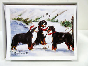New Bernese Mountain Dog Holiday Greeting Card Set 6 Cards W