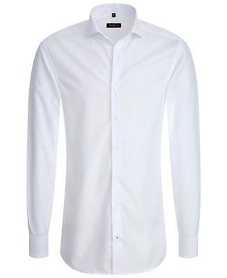 """Eterna Herren-Hemd  """"Slim Fit""""-weiß  -Bügelfrei- 100% Baumwolle"""