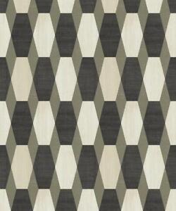 3D-Effect-Diamond-Geometric-Wallpaper-Black-Gold-Glitter-Paste-Wall-Vinyl-Ugepa