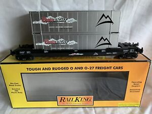 MTH-RAILKING-COORS-LIGHT-SILVER-BULLET-HUSKY-STACK-LN-BOX-FOR-LIONEL-DOUBLE-MAXI