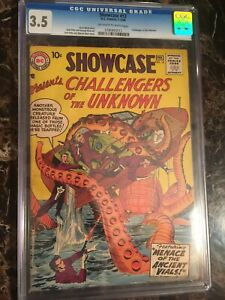 Showcase-12-CGC-3-5-OW-W-4th-Challengers-of-the-Unknown-UNPRESSED-OLD-CASE