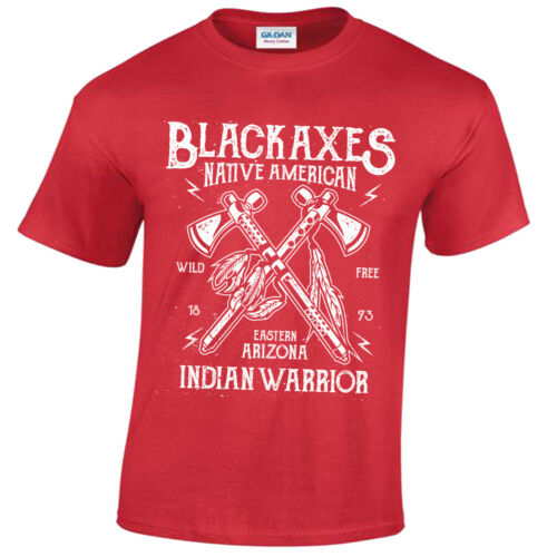 Black Axes T-Shirt Mens S-5XL Retro Native Warrior Arizona usa