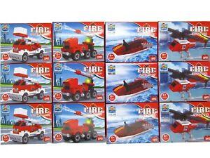 48x-Bausteine-Set-Feuerwehr-Fahrzeuge-Restposten-Sonderposten-Posten-Flohmarkt