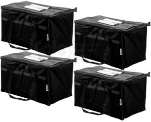 4-PACK-Insulated-BLACK-Catering-Delivery-Chafing-Dish-Food-Full-Pan-Carrier-Bag