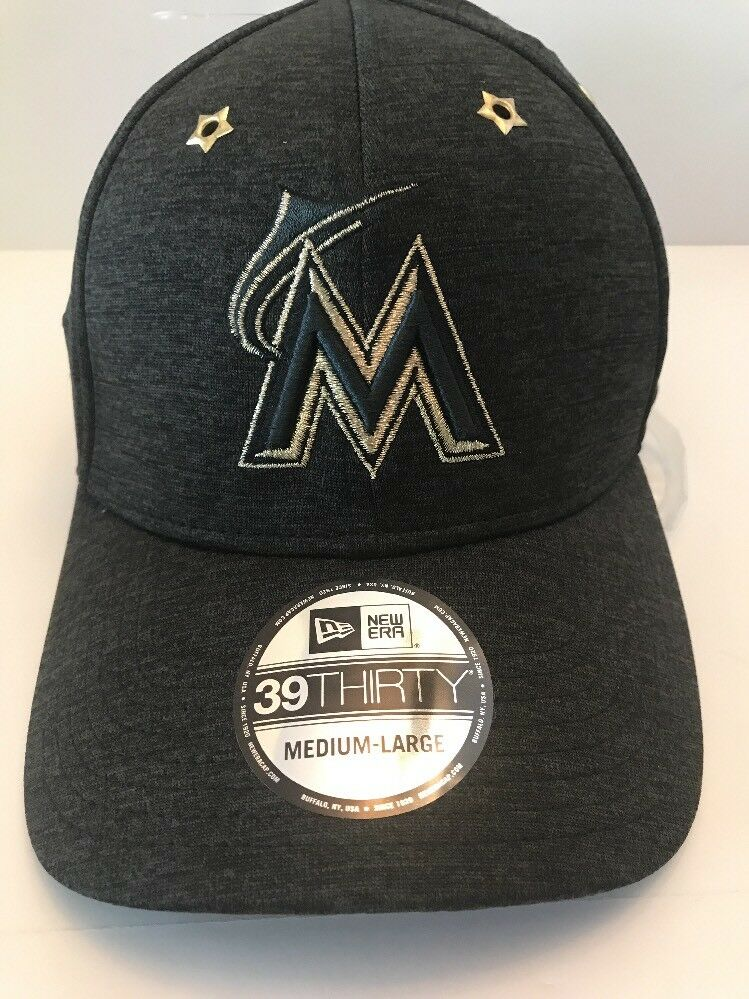 online store fa123 596cf ... canada new era miami marlins hat 2017 all star game side patch 39thirty  flex hat marlins