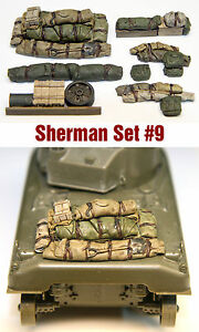 1-35-Scale-Resin-kit-Sherman-Engine-Deck-and-Stowage-Sets-9-WW2-tank-model