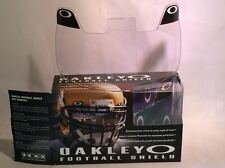 New Oakley 42-000 Adult Clear Football Visor Eye Shield