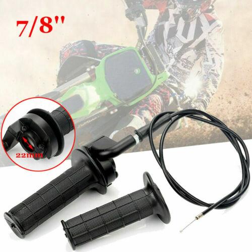 """Twist Throttle Handle Grip Cable for 7//8/"""" Dirt Bike Quad ATV 110 125 150 250cc"""