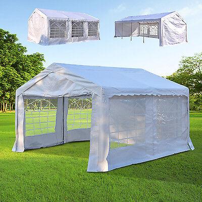 Outsunny Partyzelt Gartenzelt Festzelt Pavillon Gartenpavillon PE Stahl 3 Größen