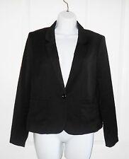 H&M Divided Black Blazer Jacket Size 16