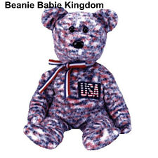 TY BEANIE BABIE * U.S.A * THE USA TEDDY BEAR USA EXCLUSIVE