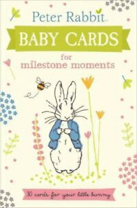 Peter-Rabbit-Baby-Cards-for-Milestone-Moments-Hardcover-Brand-New-Free-P-amp