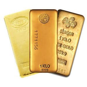 1 Kilo (32.15 oz) Generic Gold Bar .999 Fine (IRA-approved)