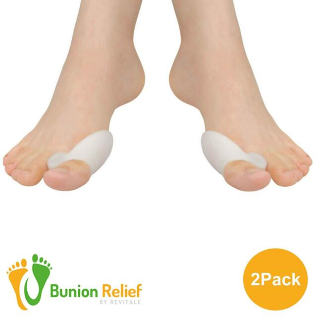 Bunion Soft Gel Toe Corrector - Straightens Separates and protects (1 Pair)