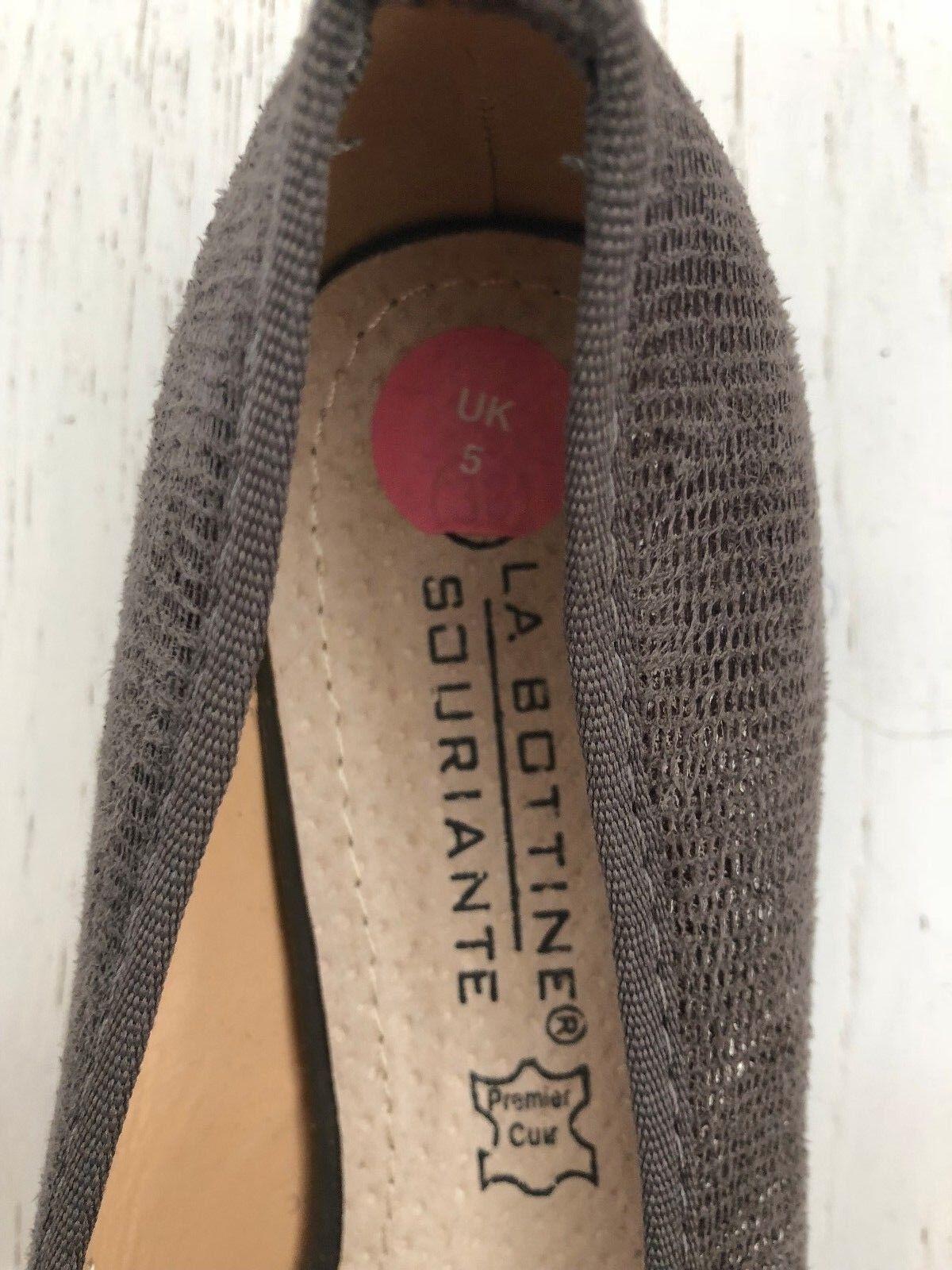 BNWOB GREY LA BOTTINE SOURIANTE LADIES GREY BNWOB SUEDE PATENT COURT SHOES Size 5 EU 38 10d357
