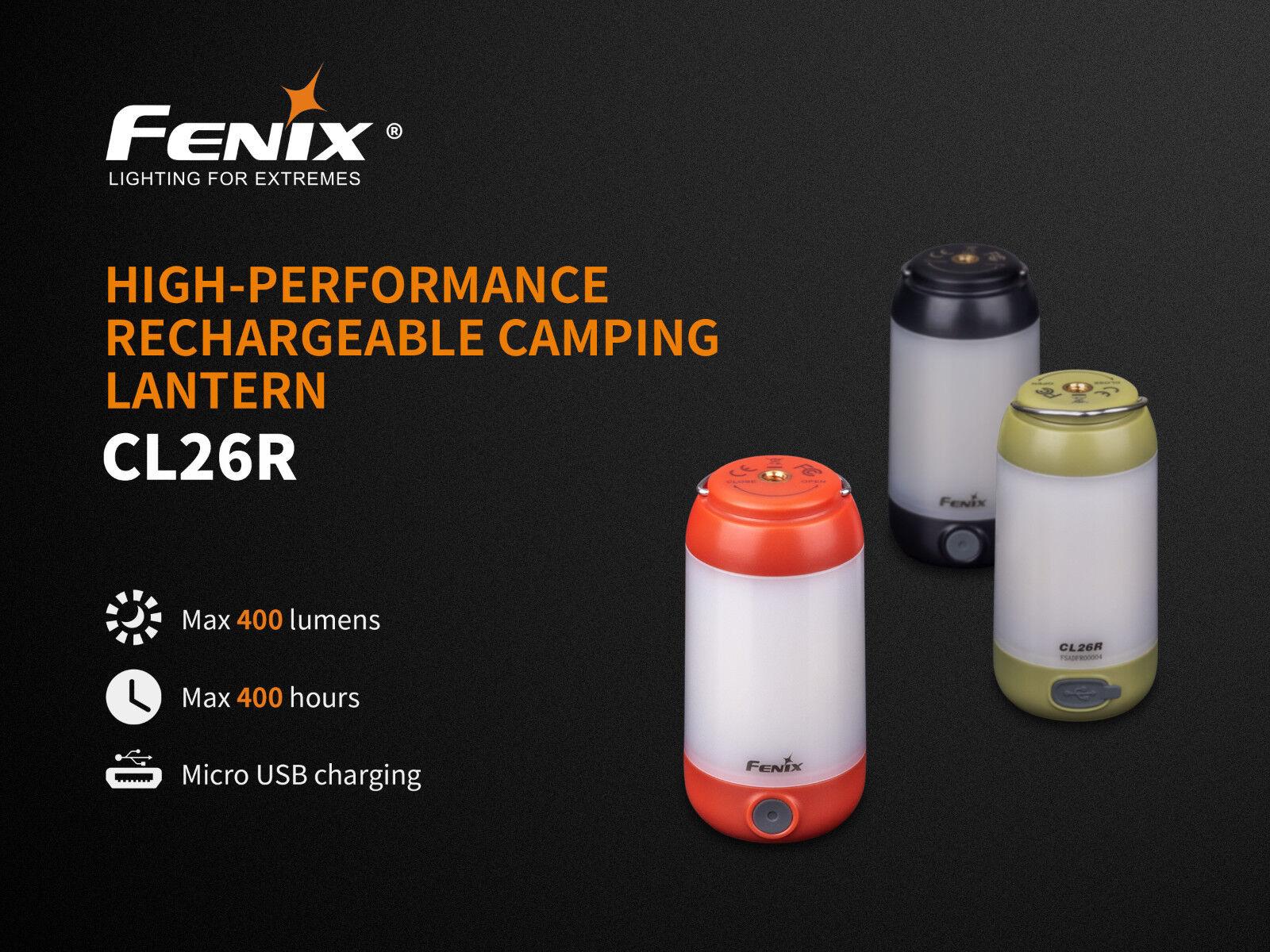 Fenix Cl26r Led Luce da Campeggio con Connessione USB Batteria 400 Lm in red E