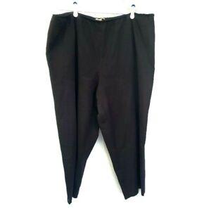 eileen fisher womens pull on pants organic cotton black