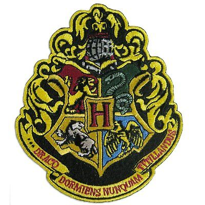 Harry Potter Large Embroidered Hogwarts Crest Patch Highest Rated Seller tracked