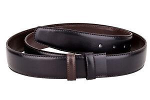 64a2937cf83 Reversible Leather Belt Strap Men s belts buckles Black Brown Casual ...