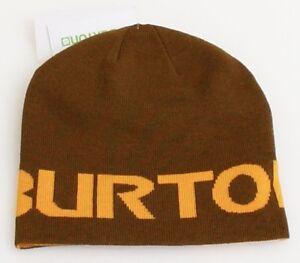 Burton Orange Knit Beanie Skull Cap Youth One Size NEW