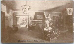Details About Wheeling Il Postcard Villa Venice Italian Restaurant Reception Room C1950s