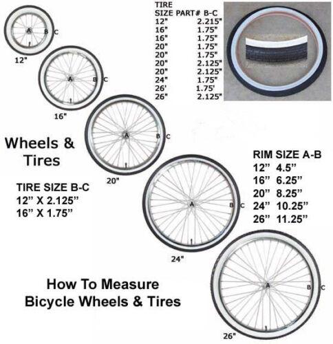 12 X 1.75 Front Wheel Scooter Kids Bike Wheelbarrow w// Tire Tube