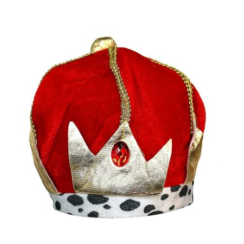 Kids Red Gold Royal King Wise Man Christmas Nativity Fancy Dress Crown Accessory