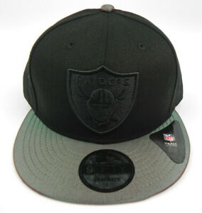 LAS-VEGAS-RAIDERS-NEW-ERA-NFL-BLACK-SNAPBACK-9FIFTY-IRIDESCENT-VISOR-HAT-CAP-NEW