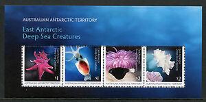Australia-AAT-2017-MNH-Deep-Sea-Creatures-4v-M-S-Corals-Squid-Fish-Marine-Stamps