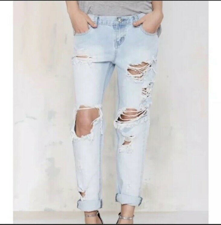 One Teaspoon Awesome baggies distressed jeans 24