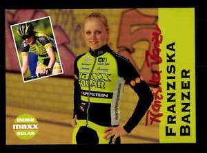 Franziska Banzer Autogrammkarte Original Signiert Radfahren+A 172555