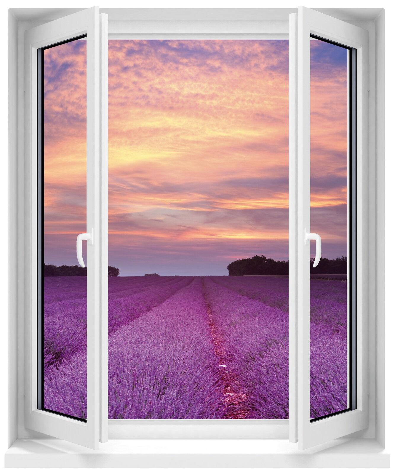Aufkleber Fenster Schein Auge Lavendel 60x80cm F505