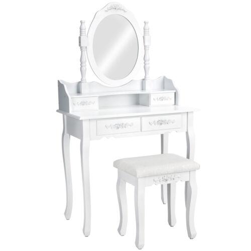 Kosmetiktisch weiß Spiegel Hocker Schminktisch Spiegeltisch Frisiertisch Kommode