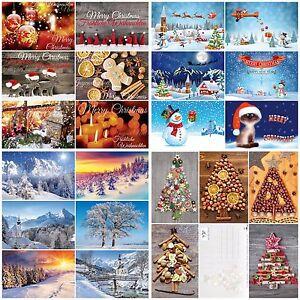 100-er-Weihnachtskarten-Set-034-WEIHNACHTEN-034-in-praktischer-Box