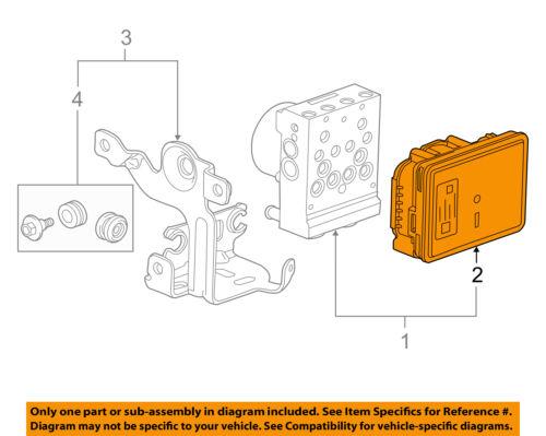 GM OEM Anti-Lock Brakes ABS-Control Module 84256781