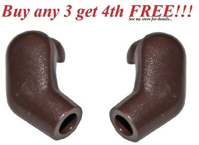 Lego Hands x 2 Dark Brown 1 Pair for Minifigure