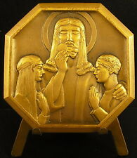 Médaille religieuse célébration Eucharistie 1933 Ernest Tranchet religious medal