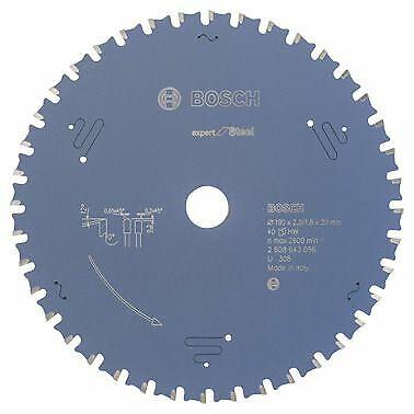 Bosch Kreissägeblatt Expert for Steel, 190 x 20 x 2,0 mm, 40