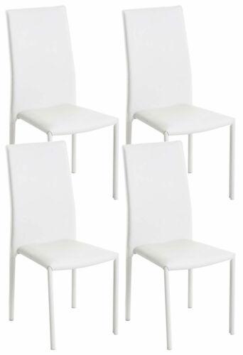4er Set Besucherstuhl Laurus weiß Lehnstuhl Esszimmerstuhl Küchenstuhl Stuhlset