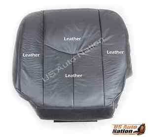 2004 2005 2006 GMC Sierra 1500 2500 Driver Bottom Leather Seat Cover Dark Gray