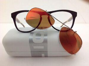 Police-occhiale-da-vista-con-aggiuntivo-da-sole-specchio-Arancione-Polarizzato