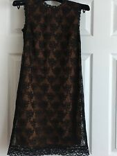 New Designer  D&G  Dolce Gabbana Sleeveless Lace Black Mini Dress $725, 38-US 2