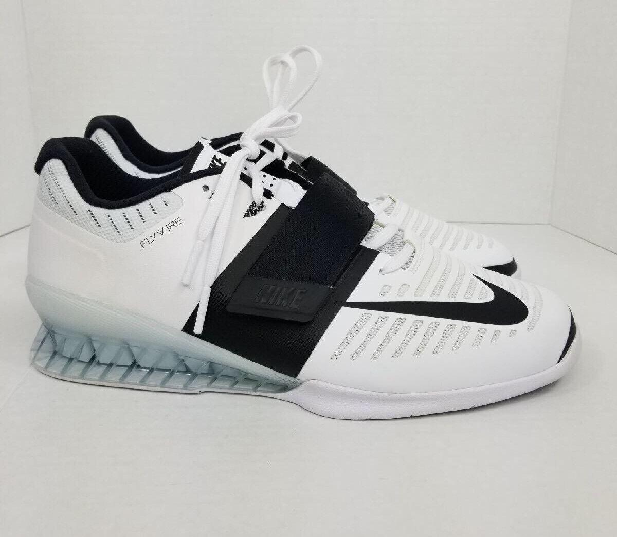 Womens Nike Romaleos 3 Powerlifting 878557-100 Size 13 weightlifting White Black