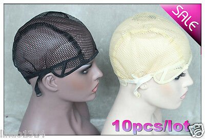 10PCS/lot Wig Caps for Machine Made Wig making wigs Mesh Net lace weaving Cap
