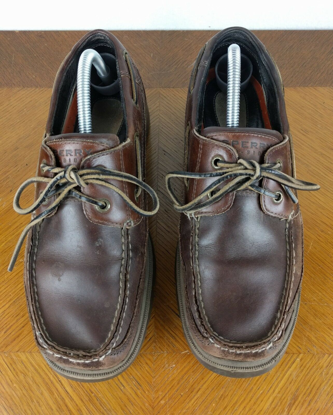 Sperry Top Sider Boat Dark Braun Schuhes M  Uomo Größe 9.5 M Schuhes Leder Lace Up Loafers e3fb06