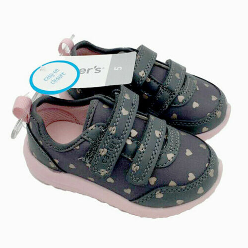 New Carter/'s Baby Girls Toddler Heart Athletic Sneakers Shoes Size 5,11,12