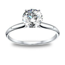 2.00ct Natural Round Cut Solitaire Diamond Engagement Ring - GIA Certified