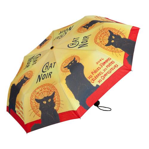 Taschenschirm Regenschirm Damen Kunst Tier Motiv schwarze Katze Chat Noir